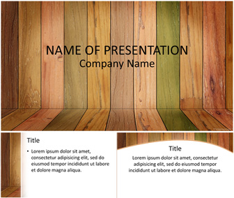 Wood Panels PowerPoint Template