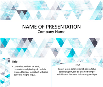 blue triangle pattern powerpoint template templateswise com