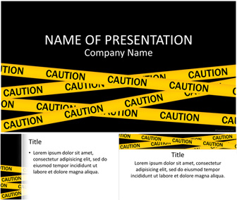 Caution Tape PowerPoint Template