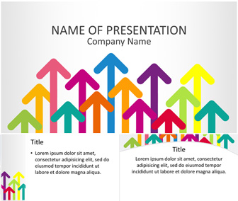 Colorful Arrows PowerPoint Template