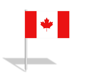 Canadian Flag PowerPoint Slide