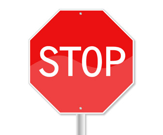 Stop Sign PowerPoint Slide