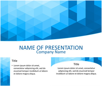 Blue Geometric PowerPoint Template