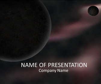 Space powerpoint template templateswise space powerpoint template toneelgroepblik Choice Image