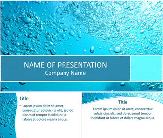 water bubbles powerpoint template templateswise com
