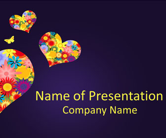 fancy hearts powerpoint template templateswise com