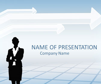 Businesswoman powerpoint template templateswise business woman powerpoint template wajeb