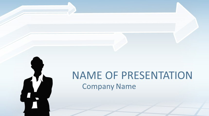 Businesswoman powerpoint template templateswise businesswoman powerpoint template flashek Images