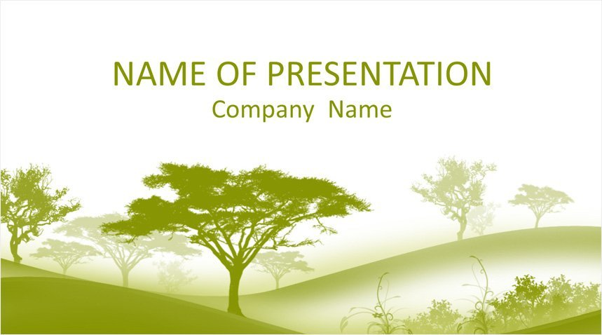 Trees Powerpoint Template Templateswise