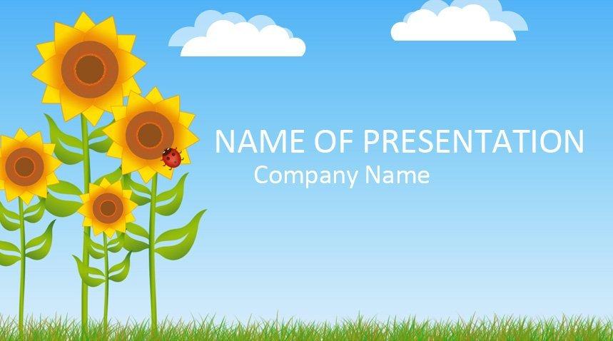 Sunflower Powerpoint Template Templateswise Com
