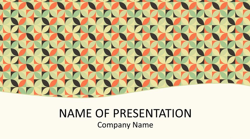 Retro Mosaic Powerpoint Template Templateswise