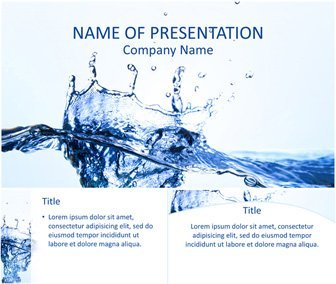 Water Splash PowerPoint Template