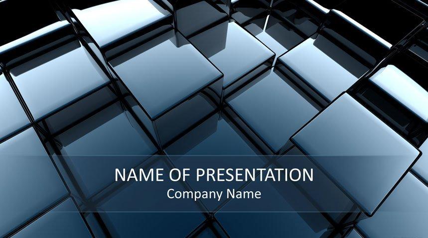 3d cubes powerpoint template templateswisecom