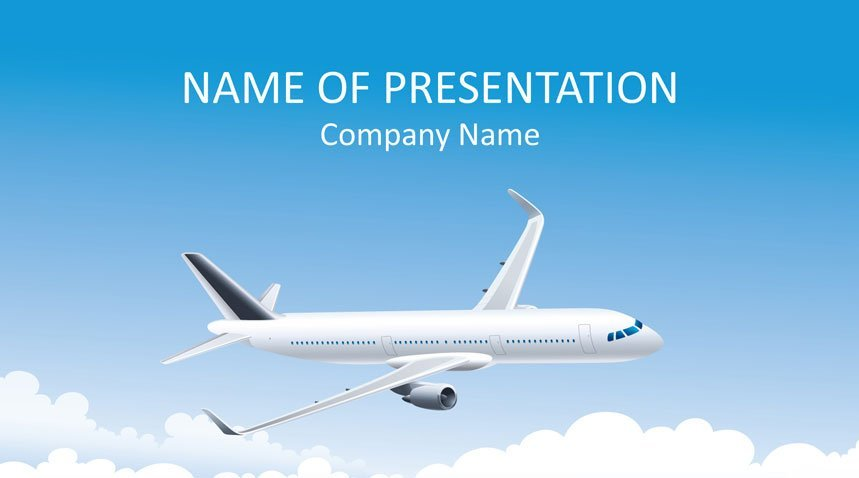 airplane powerpoint template templateswise com