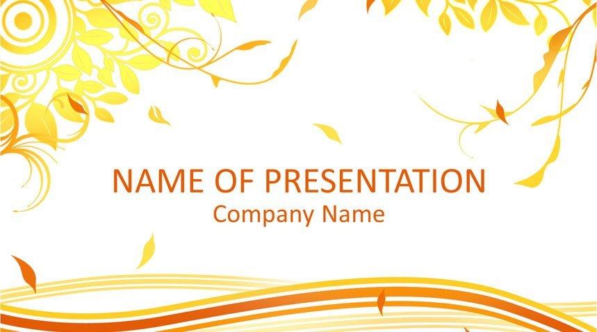 autumn powerpoint template templateswise com