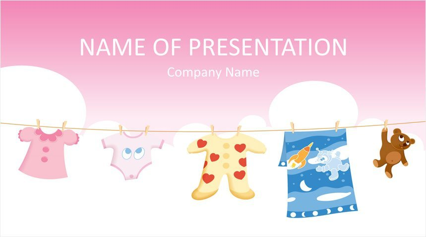 Baby Clothes Powerpoint Template Templateswise