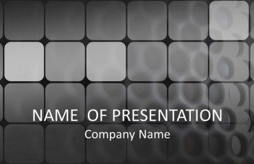 Black Grid PowerPoint Template
