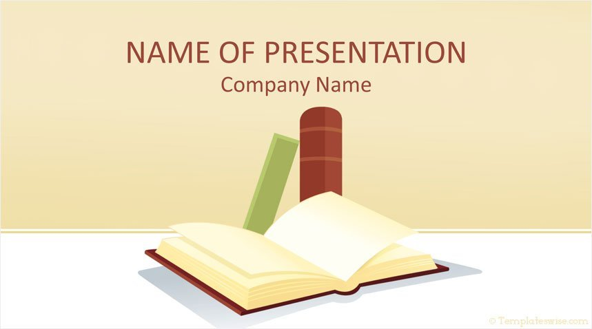 books powerpoint template templateswise com