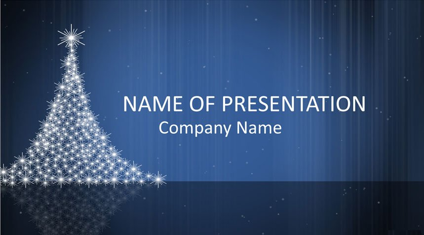 Christmas Tree Powerpoint Template Templateswisecom
