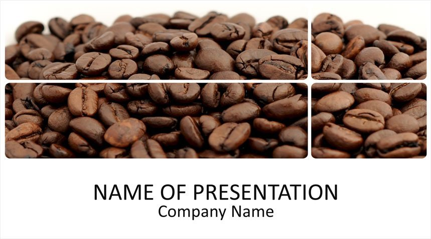 coffee beans powerpoint template templateswise com