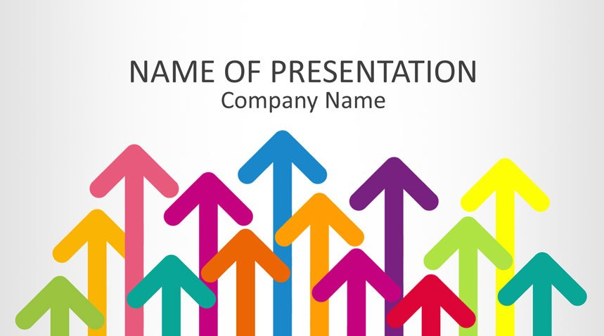 Colorful Arrows Powerpoint Template Templateswise
