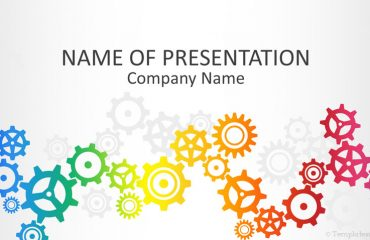 Colorful Gears PowerPoint Template