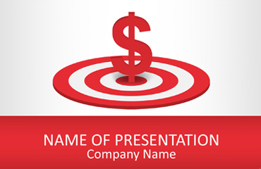 Dollar Sign on Target PowerPoint Template