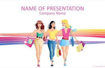 Fashion Girls PowerPoint Template