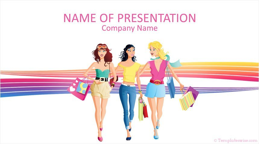 Fashion Girls Powerpoint Template Templateswise