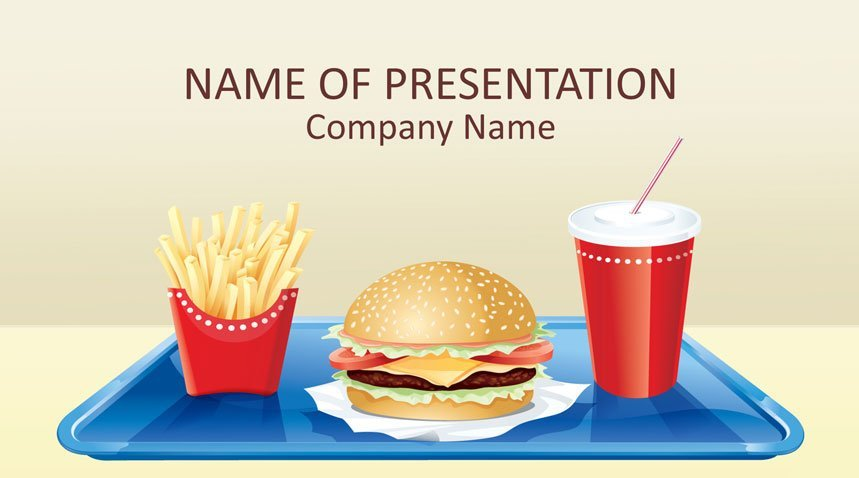 Fast Food Powerpoint Template Templateswise Com