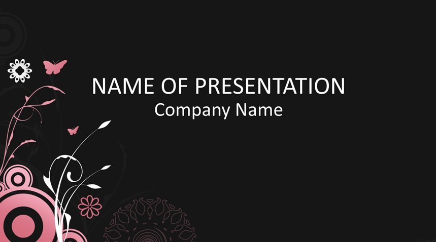 Floral Powerpoint Template Templateswise