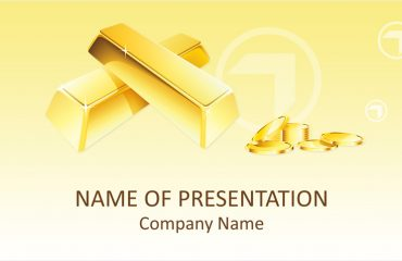 Gold Bars PowerPoint Template