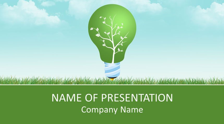 Green Energy Powerpoint Template Templateswise Com