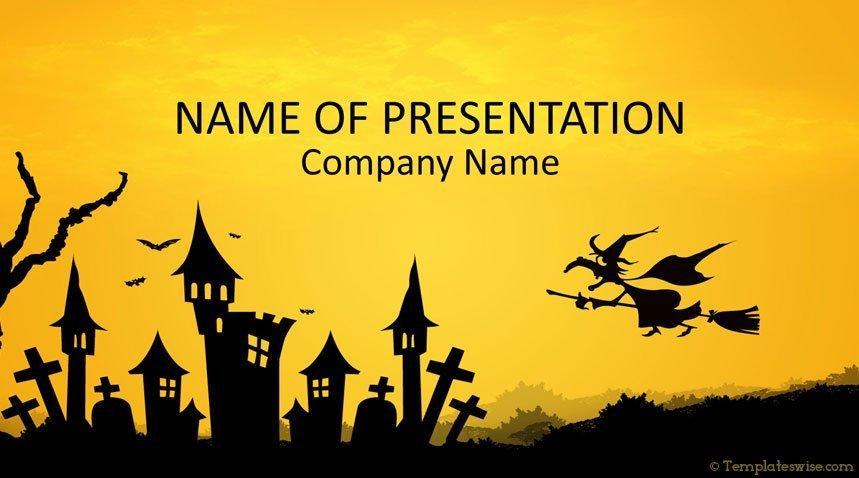 halloween powerpoint template templateswise com