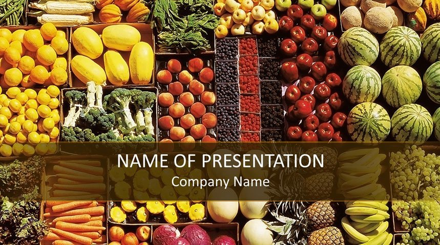 Healthy Food Powerpoint Template Templateswise