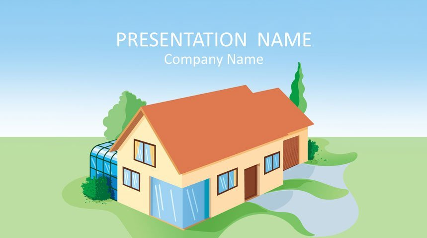 House Powerpoint Template Templateswise Com