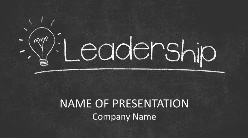Leadership On Blackboard Powerpoint Template Templateswise