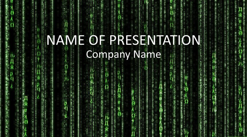 matrix code powerpoint template