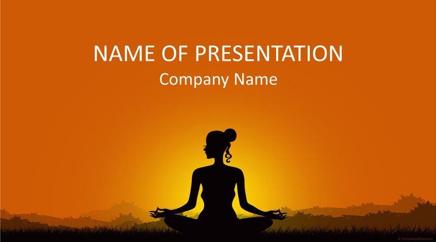 Meditation Powerpoint Template Templateswise Com