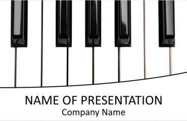 Piano Keys PowerPoint Template