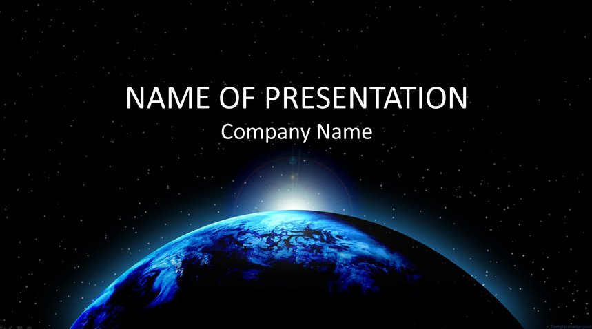 planet earth powerpoint template templateswise com