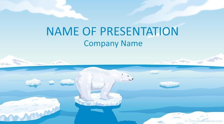 Polar Bear Powerpoint Template Templateswise