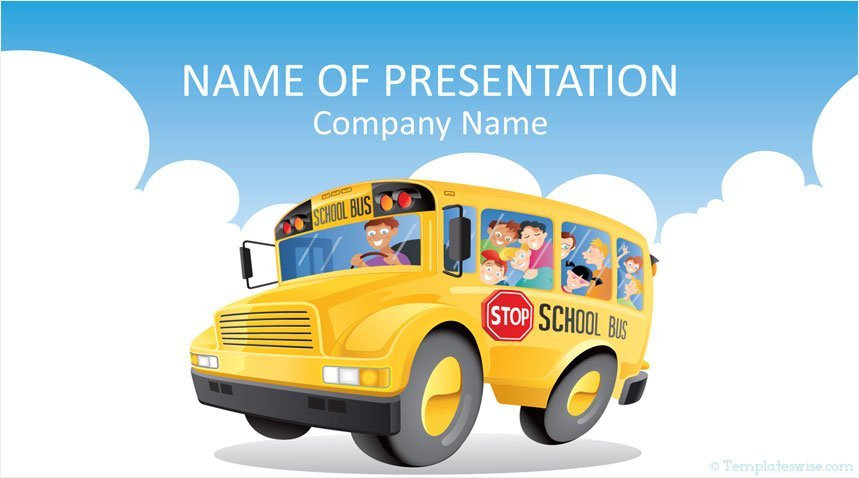 school bus powerpoint template templateswise com