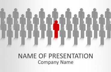 Standing Out From the Crowd PowerPoint Template