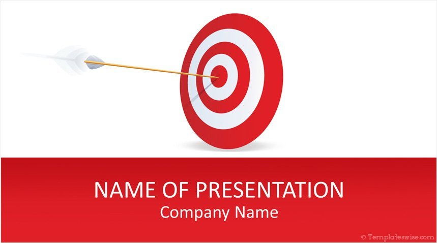 target powerpoint template templateswise com