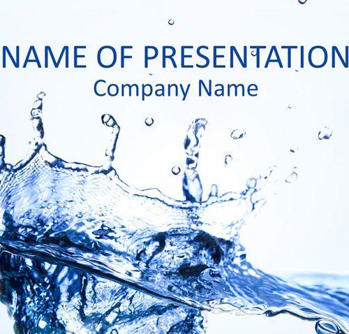 Water Splash PowerPoint Template