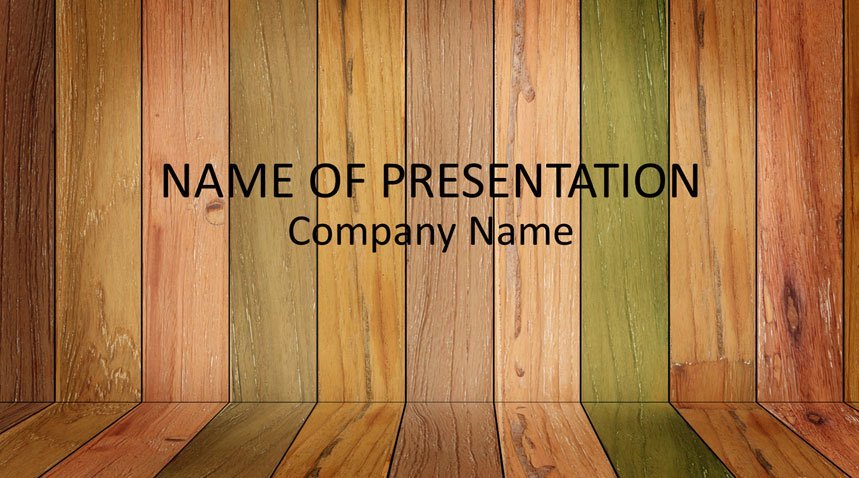 Wood Panels Powerpoint Template Templateswise Com