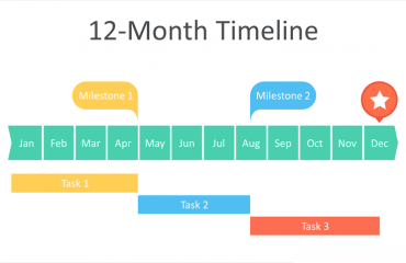 12-Month Timeline PowerPoint Template