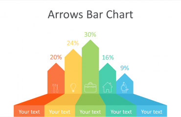 Arrows Bar Chart PowerPoint Template