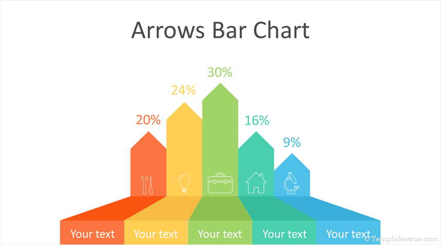 Arrows Bar Chart Powerpoint Template Templateswise Com